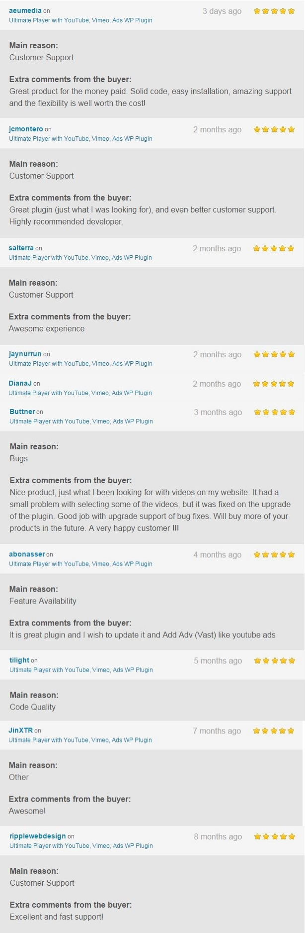 Ultimate Player with YouTube, Vimeo, Ads WP Plugin - 4