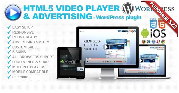 Ultimate Player with YouTube, Vimeo, Ads WP Plugin - 10