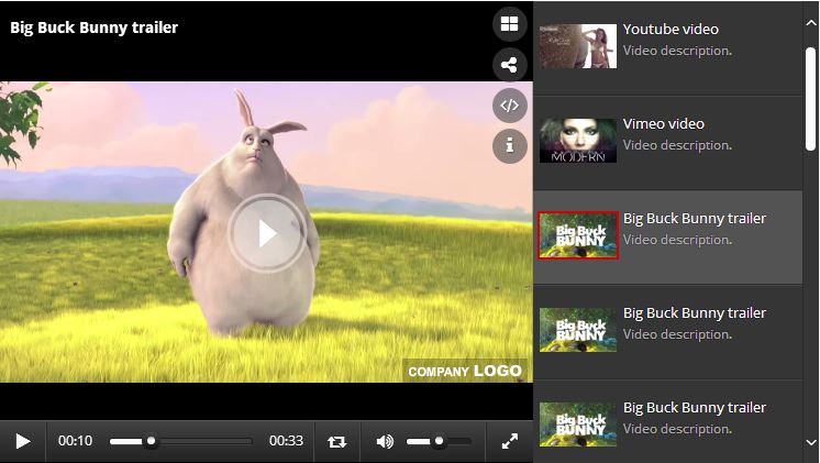 Ultra Video Player - HTML5/YouTube/Vimeo/Ads